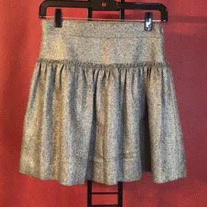 ADAM LIPPES TWEED WOOL SKIRT SIZE 0